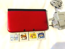 Nintendo 3DS XL RED POKEMAN  with 4 Games