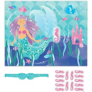 Mermaid Party Game Poster 14 Players | Girls Birthday Party Supplies Activities