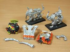 CLASSIC METAL LIZARDMEN SLANN MAGE PRIEST ON PALANQUIN PART PAINTED (1108)
