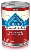 NEW BLUE Homestyle Adult Beef Wet Dog Food 12.5 oz Pack of 12 FREE SHIPPING