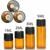 1/10PCS Amber Glass Liquid Dropper Reagent Eye Pipette Essential Oils Bottle