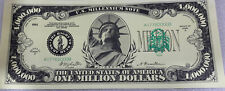 * Statue Of Liberty 2-1,000,000 Novelty Dollar Bills Miss Liberty Million $$