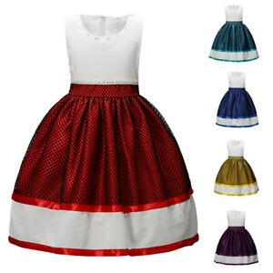 Flower Girls Kids Tutu Dress Princess Bridesmaid Christmas Wedding Party Gown