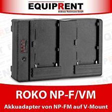 ROKO NP-F/VM Akkuadapter Sony NP-F zu V-Mount / V-Lock Akku (EQ978)