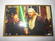 STAR WARS EPISODE 1 CRAZY PLANET MEGA STICKERS 32 /32 QUI-GON JINN MINT