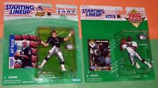 1995 1997 LOS ANGELES RAIDERS lot Terry McDaniel Jeff George Starting Lineup