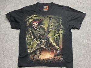 Vintage Rock Eagle Shirt Mens Large Skeleton Guitar Metal Single Stitch Adult T