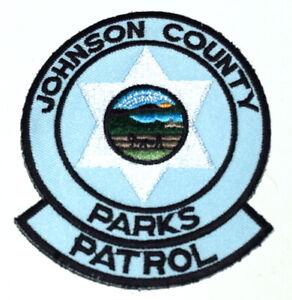 JOHNSON COUNTY – PARKS PATROL - KANSAS KS Sheriff Police Patch STATE SEAL `