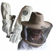 Cotton & Sheepskin Beekeeping Medium Gloves w/ Vail & J-Hook Tool Glglv-Jhk-Vl-M