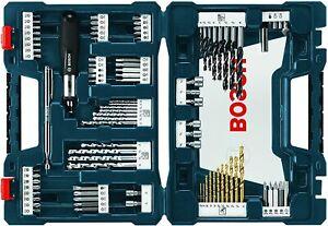 Bosch MS4091 91-Piece Drill and Drive Bit Set, Tough Jobsite Case, Nut Setters