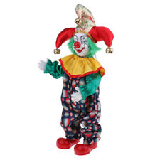 Handmade Clothing Clown Porcelain Doll Halloween Ornaments Gifts 38cm #2