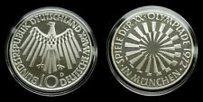 """Germany - 10 Mark 1972 """"D"""" Proof ~ Olympic Games in Munich, silver"""