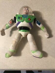 "Disney Burger King Buzz Lightyear Talking Toy Vintage 10"" With Batteries"