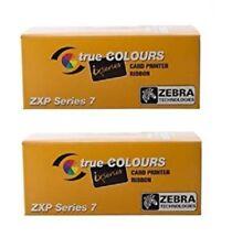 2 x Zebra Farbband TrueColours ZXP 7 ix Series Monochrome BLACK 800077-711E
