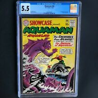 SHOWCASE #30 (DC 1961) 💥 CGC 5.5 💥 1ST AQUAMAN TRYOUT ISSUE!