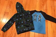 Gymboree Boy Bear Set~4T~Shirt and Fleece Jacket GUC!!