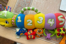 Leap Frog Baby COUNTING PAL Plush CATERPILLAR Worm Musical Stroller Crib Toy