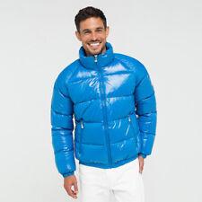 Pyrenex Vintage Mythic Shiny Blue Down Puffer Jacket Coat Unisex Size S