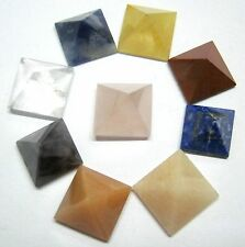 BEAUTIFUL LOT OF 9 MULTI CRYSTAL LOOSE PYRAMIDS CRYSTAL FENG SHUI GIFT BA GUA