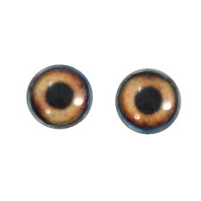 16mm Brown Dog Glass Doll Eyes for Sculptures Jewelry Making or Taxidermy