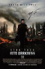 Benedict Cumberbatch Signed Star Trek Into Darkness 11x17 Movie Poster COA