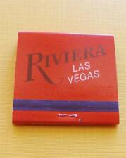 Vintage RIVIERA Hotel & Casino Las Vegas Matchbook Full -  New Old Stock