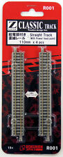 Rokuhan R001 110mm Straight Track with Power Feed Point 4 pcs. (1/220 Z Scale)