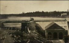 Ellsworthe ME Power House & Dam 1908 Real Photo Postcard