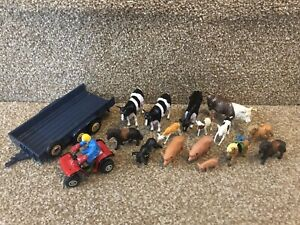 BRITAINS COLLECTION  OF FARM ANIMALS Tractor Trailer Vintage