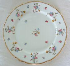 """Vtg ROYAL STAFFORD Violets Pompadour 10.5"""" DINNER PLATE Bone China ENGLAND Gold"""