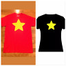 Steven's Universe Star Shirt Unisex T Shirt Youth S- Adult XL Red Black Yellow