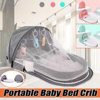 Portable Foldable Crib Sheet Baby Bedding Cot Set Boy Girl Infant Mosquito