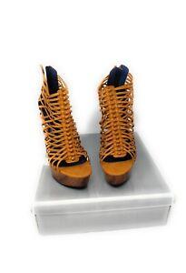 Fahrenheit Style Hugo- 14  High Heel - Tan Pu - Size 8 Shoes