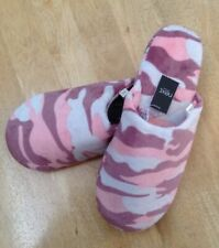 BNWT Ladies Next Pink & Grey Camouflage Mules Slippers Size - Medium 5 - 6