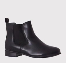 KENLEY BLACK FAUX LEATHER CHELSEA BOOTS UK 8 EU 41 JS48 69
