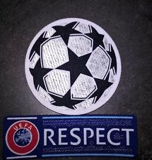 Patchs Europe maillots foot UEFA Champion's League + Respect 12-18 Neymar OM PSG