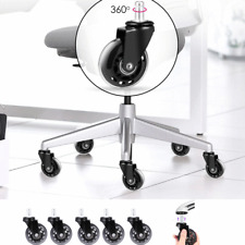 5 Packs Office Home Swivel Chair Caster Wheels Replacement Roller Universal Fit