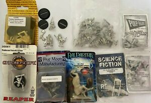 Collection of 37 High Quality Fantasy & Sci-Fi Metal Miniatures; Grab a BARGAIN!