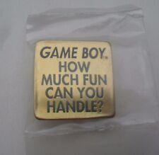 Nintendo GAMEBOY Rare 1993 NEW Promo Enamel METAL PIN BADGE Pins Game Boy NES