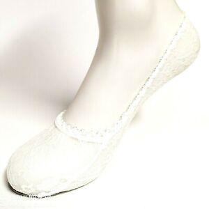 """Spitzen-Footie """" White """" One Size, Without Disturbing Seam, Extra Soft, Cotton"""