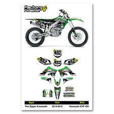 2012-2015 KAWASAKI KXF 450 VZ Dirt Bike Graphics by Enjoy MFG
