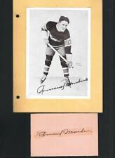 Rare Montreal Canadiens Armand Mondou 1928-40 Autograph & Crown Brand Photo dec!