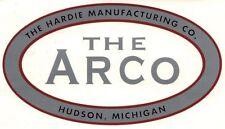 The Arco Decal 6 x 3 1/4 Hardie Manufacturing Hudson Michigan Gas Engine Motor