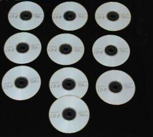 10 x BLANK SONY CD-R 700MB (UNUSED)