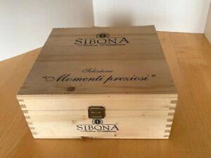 Kiste Holz  BOX Geschenkverpackung Verpackung DEKO Rothschild Wein Flaschen