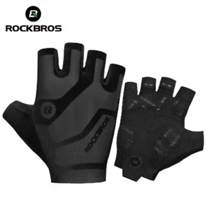 ROCKBROS Cycling Gloves Breathable Shockproof Bike Summer Half Finger Gloves