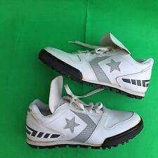 Converse All Star youth girl's fashion white walking shoes size-4