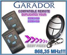 Garador HSM2, Garador HSM4 868.3Mhz Compatible Remote transmitter, clone