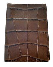 Exclusive ALEXANDER McQUEEN PASSPORT COVER Samsonite BLACK LABEL Leather Brown