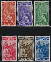 Vatican - 1935, Pope Gregory - Scott # 41 thru 46 - Complete - MLH